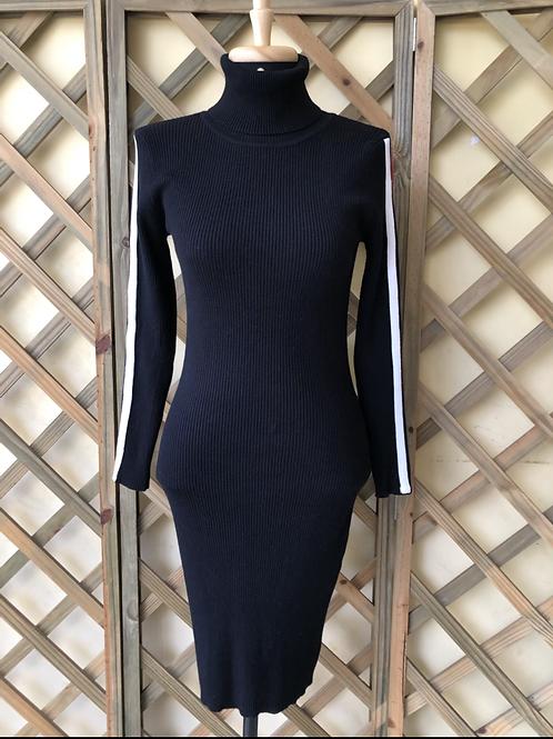 Vestido tricô preto