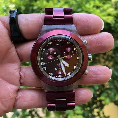 Relógio cereja Swatch