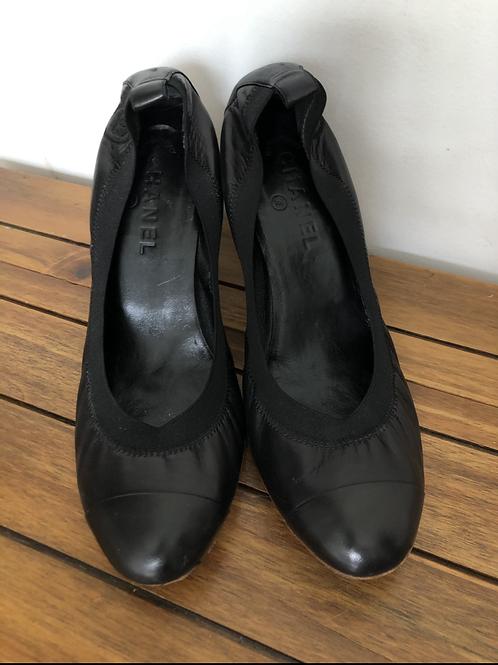 Sapato Chanel Elastic Cap Toe