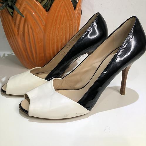 Giuseppe Zanotti - Sapato bicolor em couro e verniz