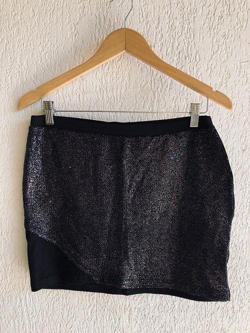 Mini saia preta c/brilho