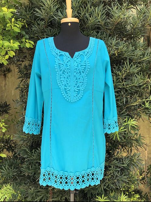 Blusa azul Beleza Indiana