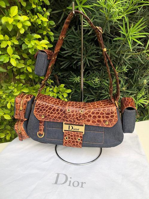 Bolsa Crocodile Street Chic Jeans Christian Dior