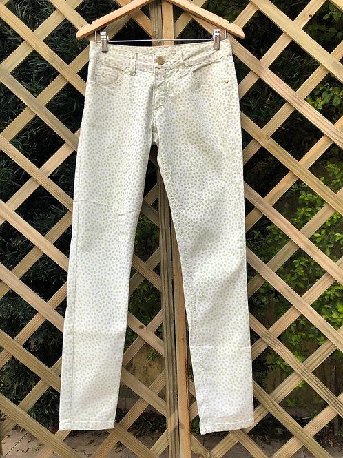 Calça jeans bolinhas Maria Filó