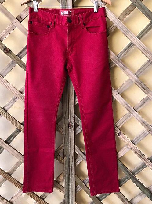 Calça jeans vermelha Levi's