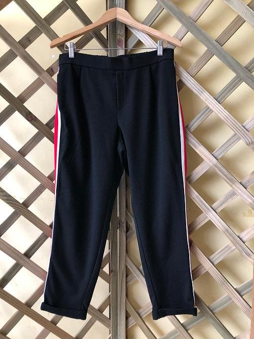 Calça preta com listras Zara Trafaluc