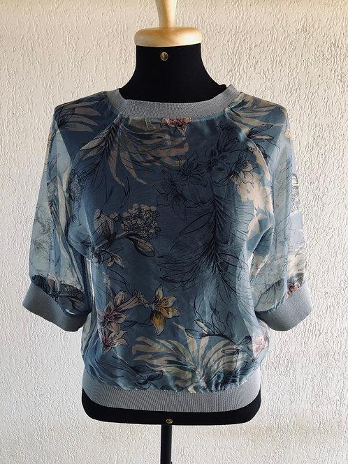 Blusinha transparente Zara Basic
