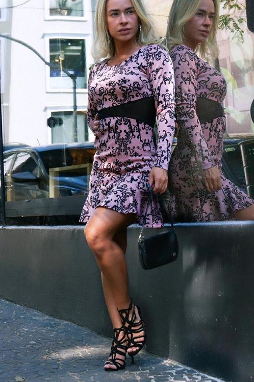 Vestido rosê c/tule