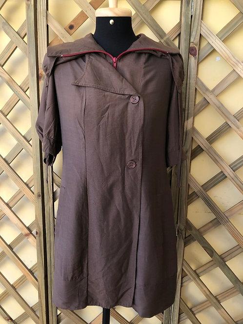 Vestido marrom Spezzato