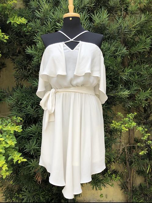 Vestido off white Morena Rosa