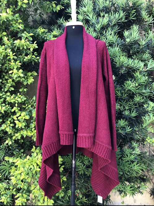 Casaco de lã bordô