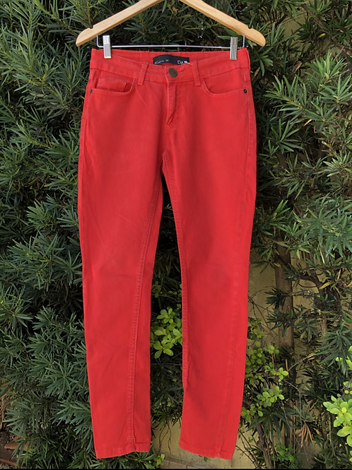 Calça jeans laranja Canal