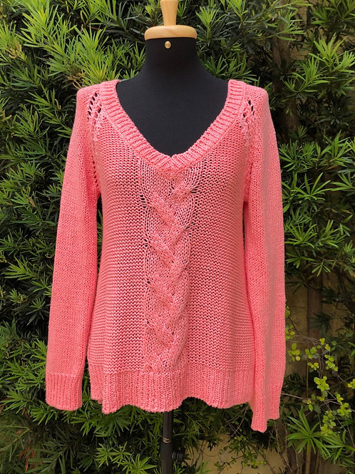 Tricô rosa chiclete Zara Knit