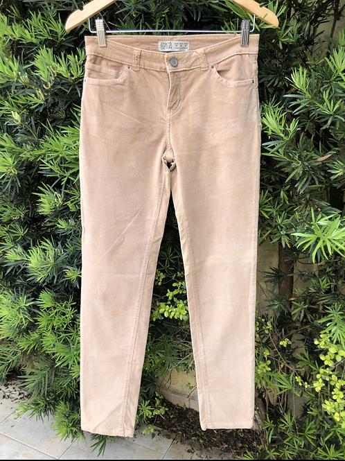 Calça de veludo Zara Basic