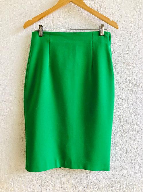 Saia verde Zara Woman