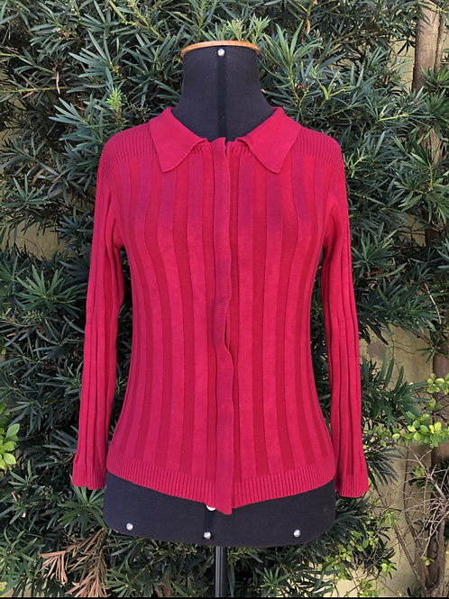 Casaquinho tricô vermelho