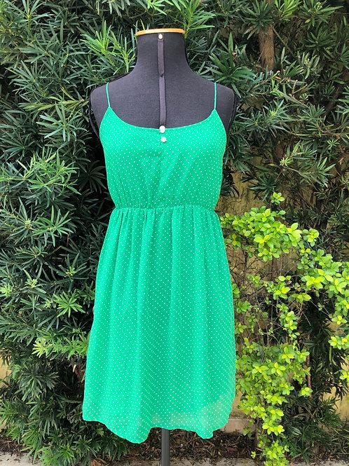 Vestido de alça verde Farm