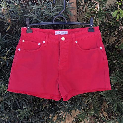Short jeans rosa Mango
