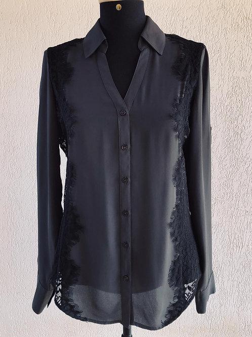 Camisa cinza c/renda Express