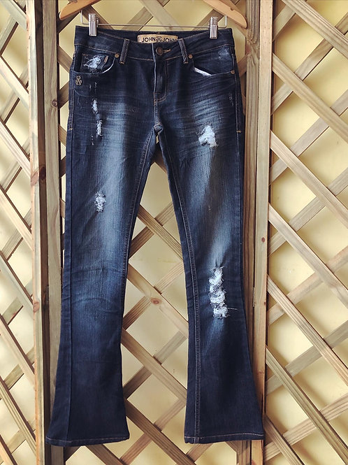 Calça jeans destroyed John John