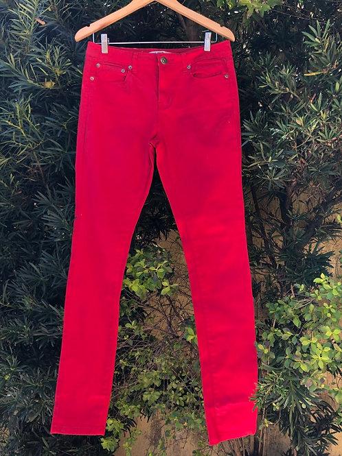 Calça jeans vermelha Colour
