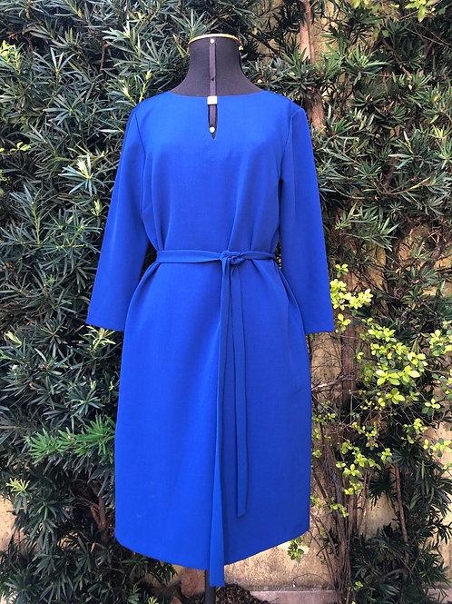 Vestido azul Tahari