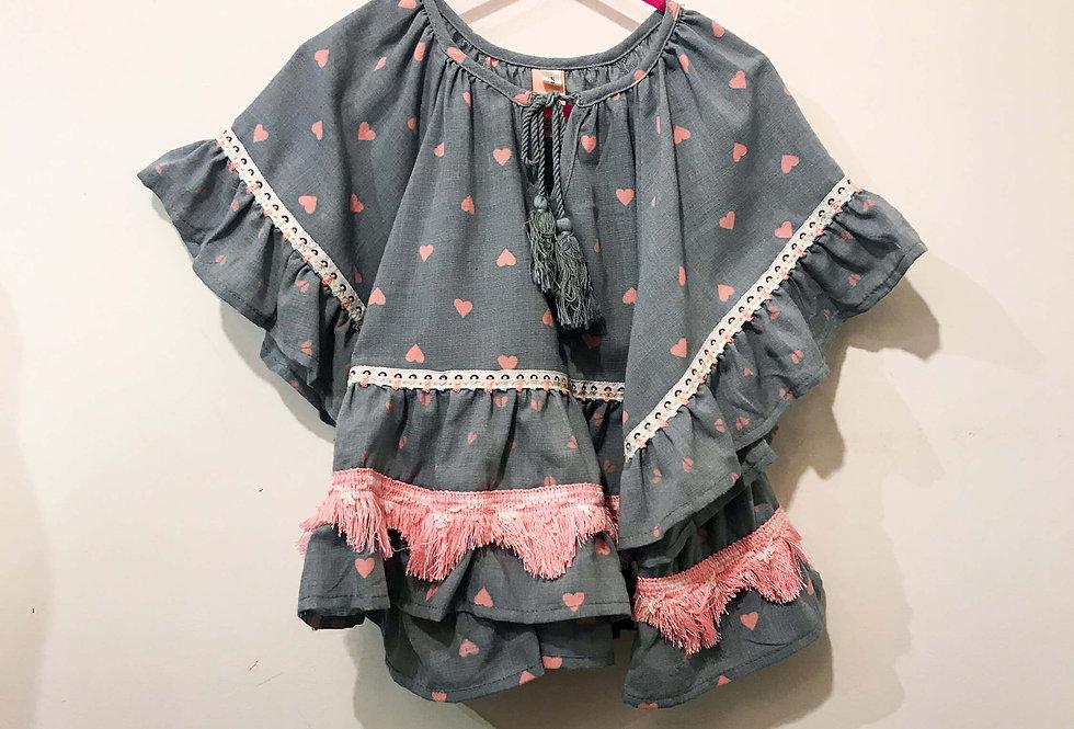 Leila - Pink Heart Dress