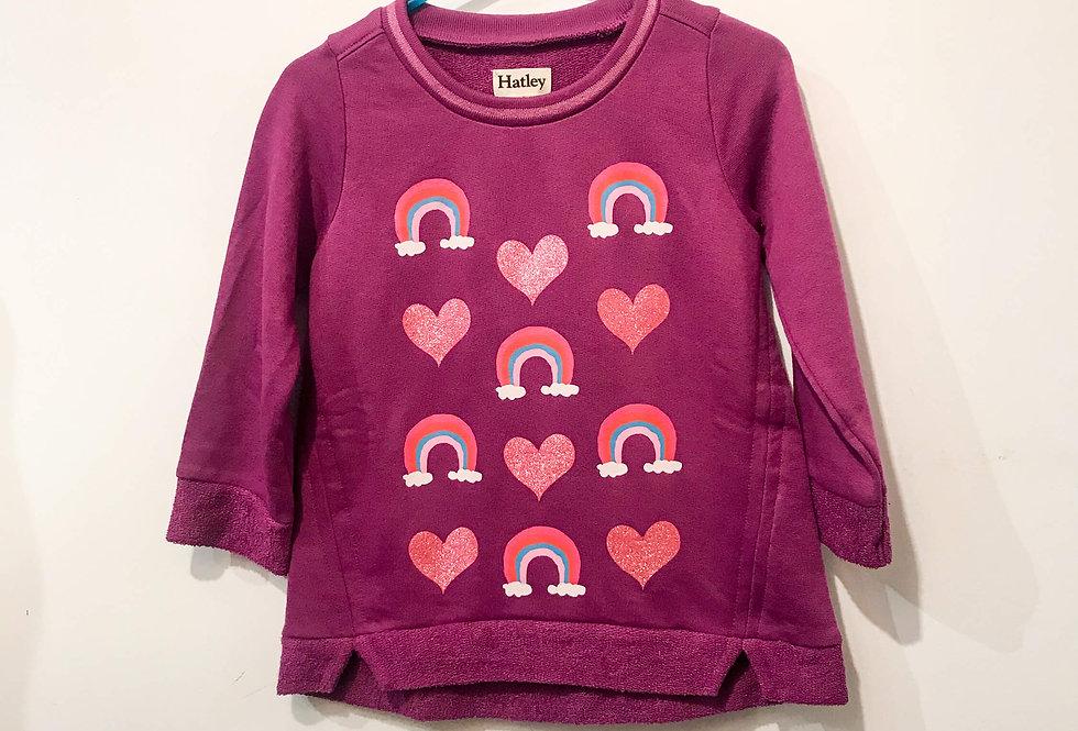 Hatley - Rainbows Hearts Pullover