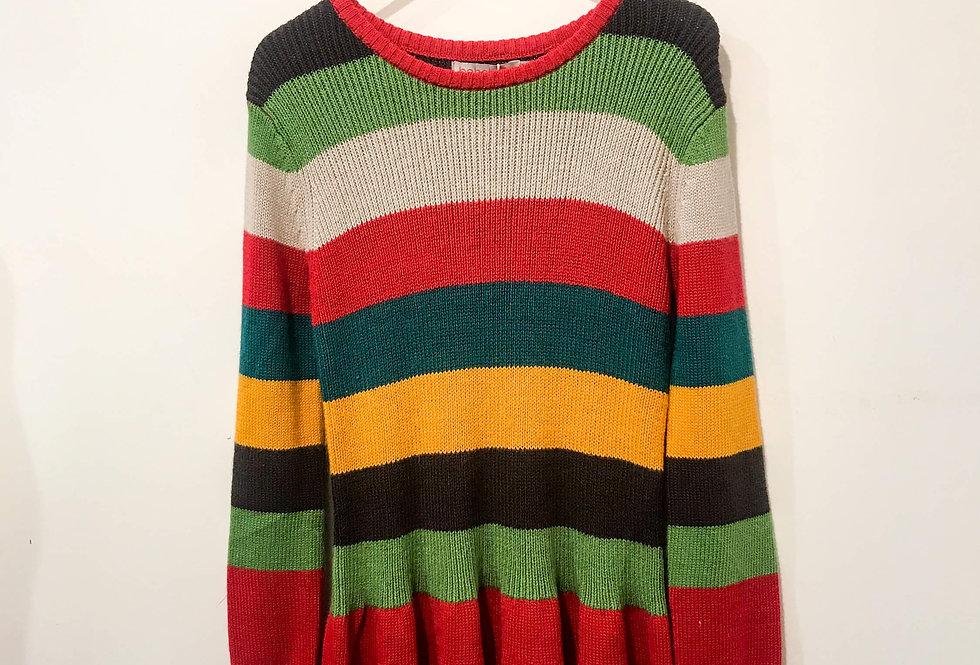 Boboli - Color Stripe Knitwear Sweater Dress