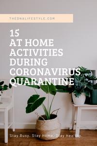 15 at home activities to do during coronavirus quarantine