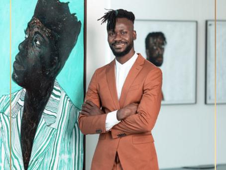 Portrait d'artistes... Rencontre avec le 2ème artiste africain le plus côté, Amoako Boafo
