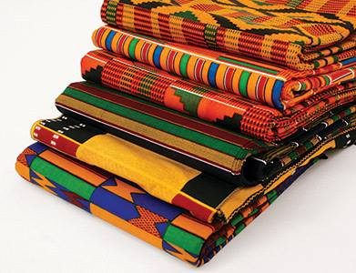 Discovering African fabrics...