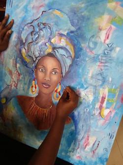 Betty Kandé, Painter