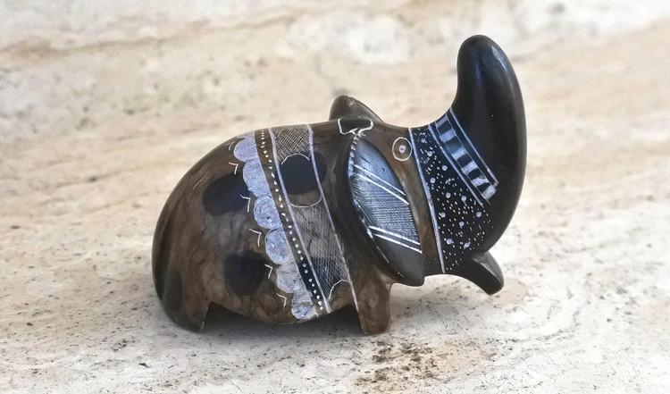 Art touareg - Statuette éléphant