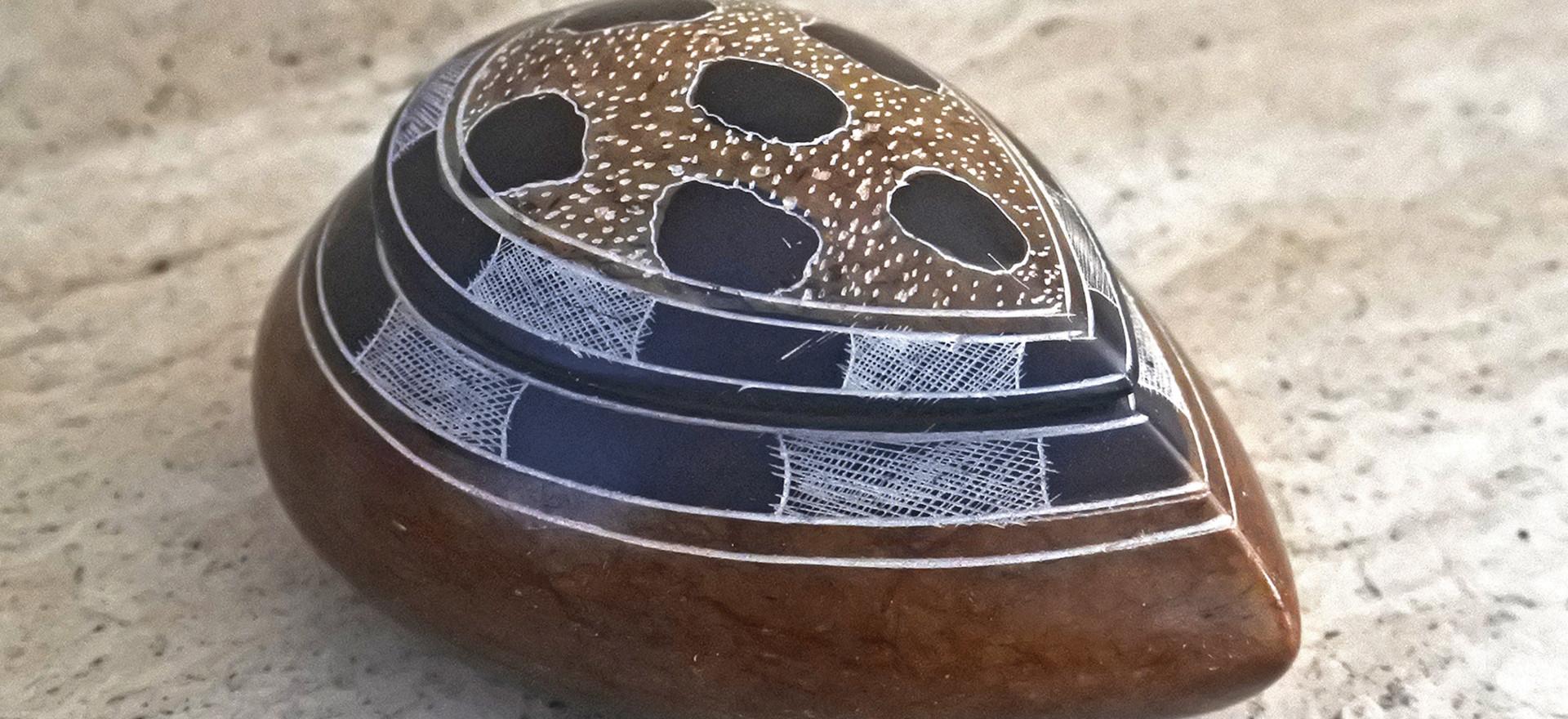 """Touareg art Stone box """"Turtle"""""""