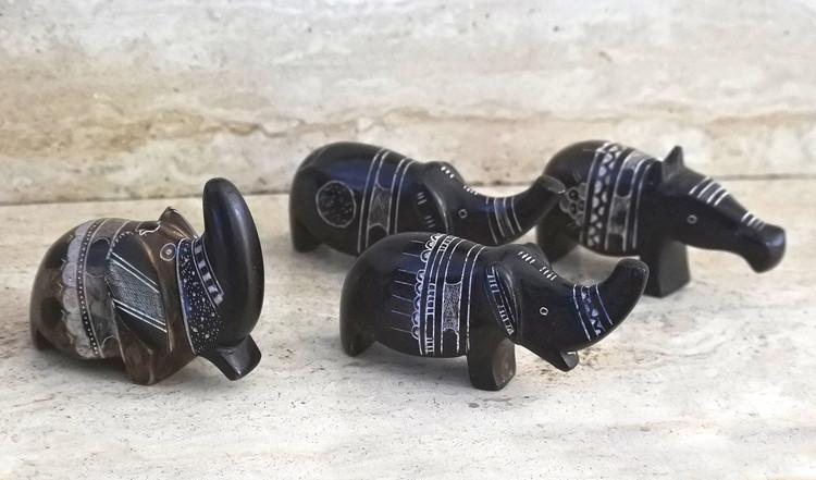 Art touareg Statuettes éléphants