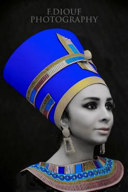 Portrait de Nefertiti reine d'Egypte