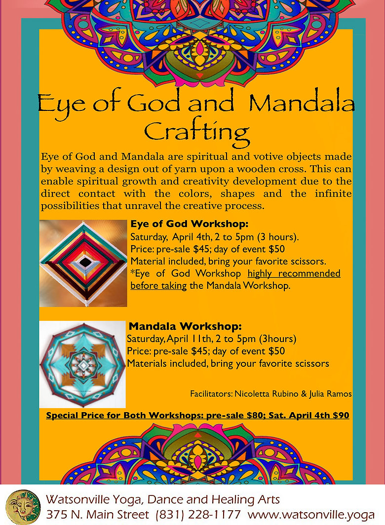 April 4 and 11 Nierika crafting