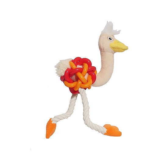Orange Rubber Belly Ostrich