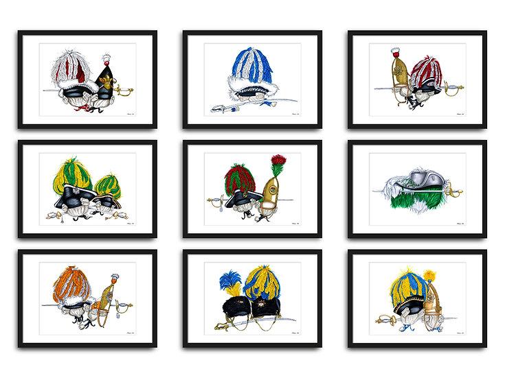 """Collection """"Fastelovendshüte der Traditionskorps"""""""