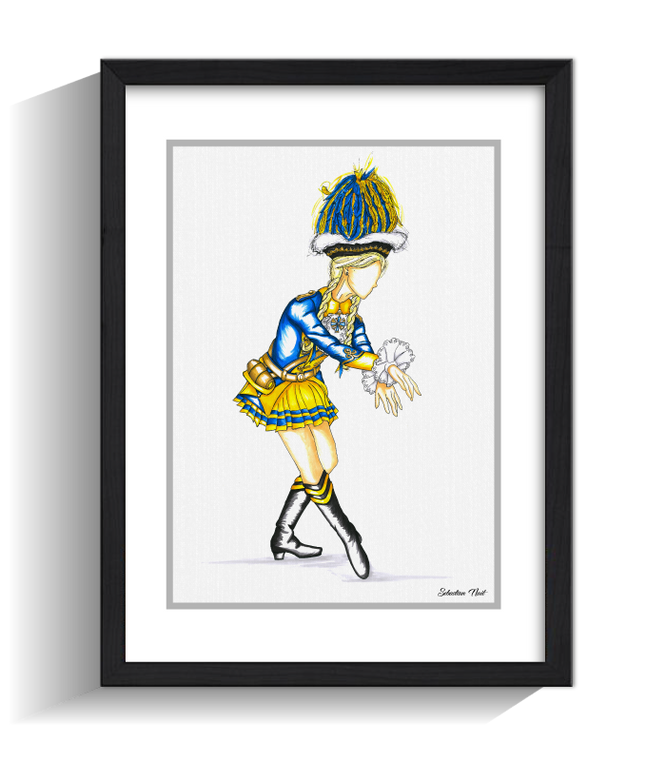 Tanzmarie Bürgergarde blau-gold, Bürgergarde blau-gold, Kunst und Karneval, Karneval, Köln, Kunst und Köln