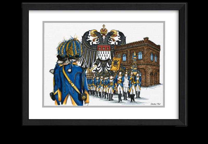 Bürgergarde blau-gold, Kölner Karneval, Kunst Karneval