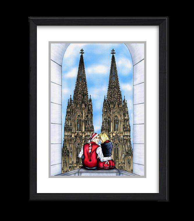 Hänneschen und Bärbelchen, Kölner Dom, Dom, Köln, Kunst und Karneval, Domspitzen