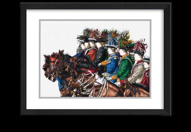 Kölner Reiterkorps, Pferde, Kölner Karneval, Kunst Karneval