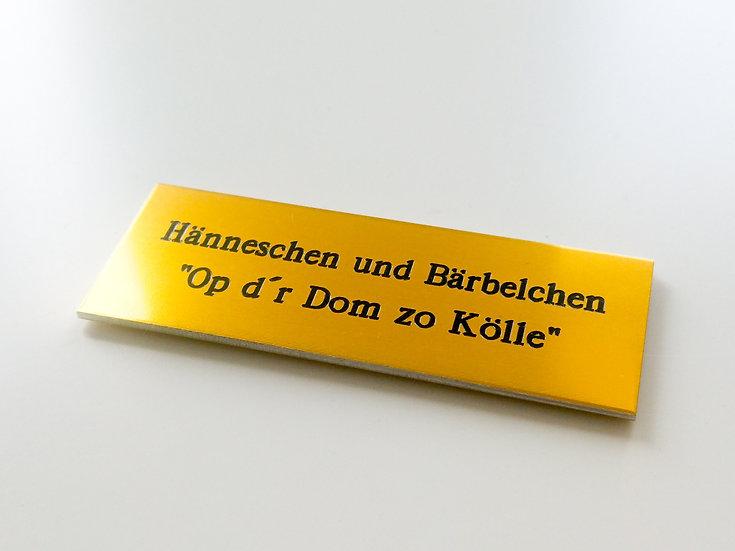 """Personalisierung """"Metallschild"""""""