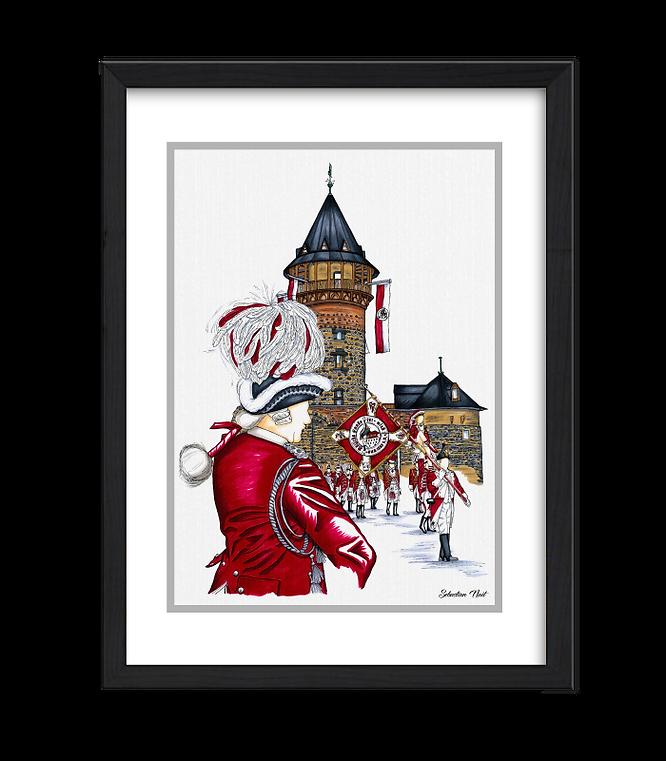 Rote Funken, Ulrepforte, Kölner Karneval, Kunst Karneval