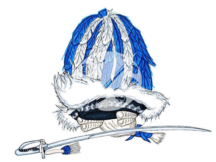 """Fastelovendshüte """"Blaue Funken"""""""