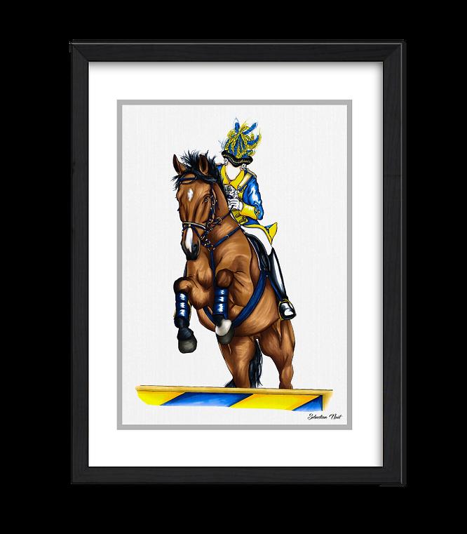 Bürgergarde blau-gold, Reiterkorps, Kölner Karneval, Kunst Karneval