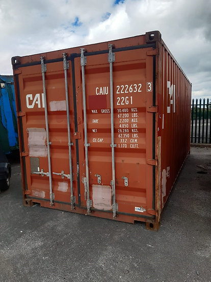6323 A USED WIND & WATER TIGHT 20FT SHIPPING CONTAINER
