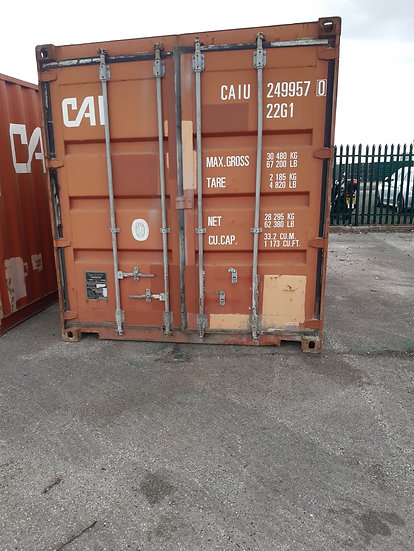 9570 - A USED WIND & WATER TIGHT 20FT SHIPPING CONTAINER